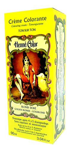 Golden Blonde Henna Colouring Cream 90ml