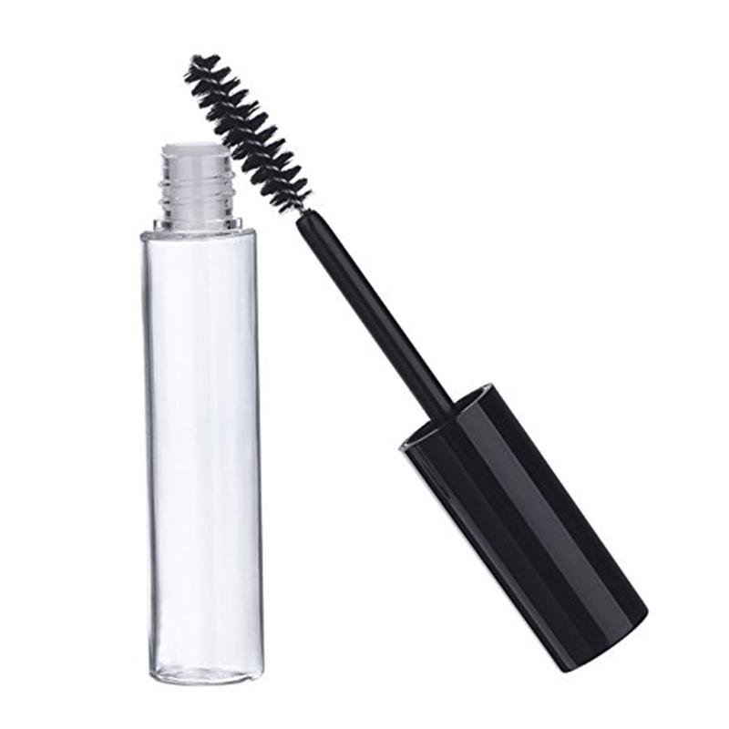 Mascara Container, Shiny Black with Clear Tube, 10ml