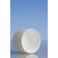 24mm Tampertel Wadded Cap, White