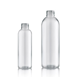 Clear PET Boston Bottle unfitted - tall