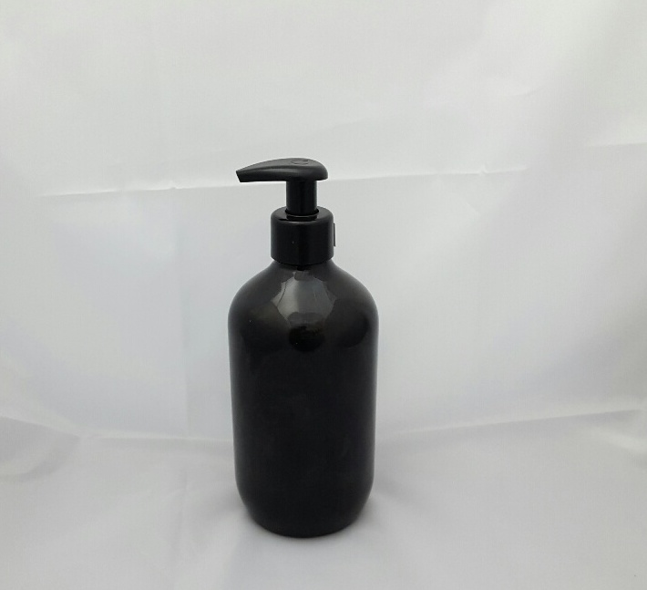 500ml Black Bottle and Black Lotion Pump
