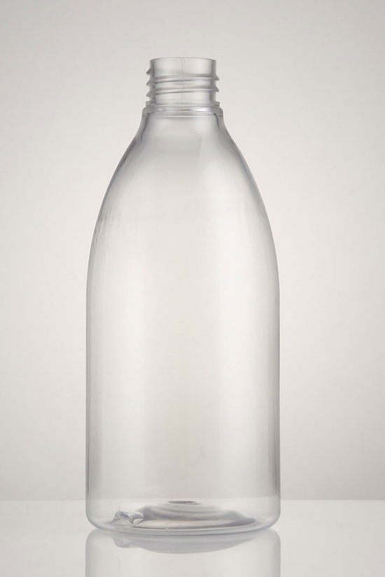 500ml Clear PET Bullet Bottle unfitted