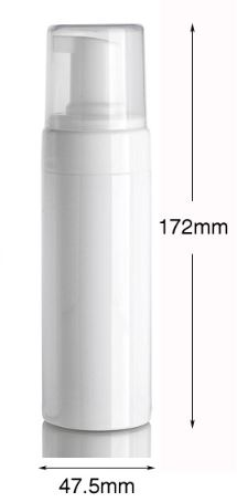 150ml White PET Bottle with Natural Foaming Pump