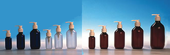 HDPE Bottles & White Lotion Pumps