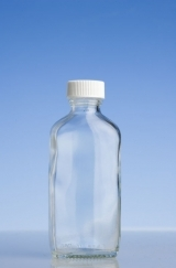 Clear Oval Bottle, 100ml, with Various Caps