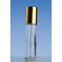 10ml Clear Glass Roll-on Bottle with Gold Cap