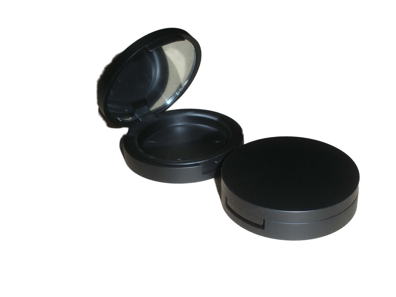 Round Matt Black Compact 29mm