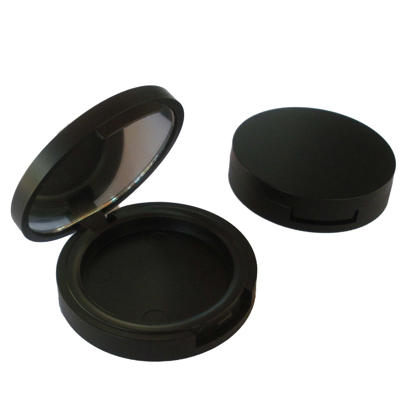 Round Matt Black Blush Compact 37mm (Indent)
