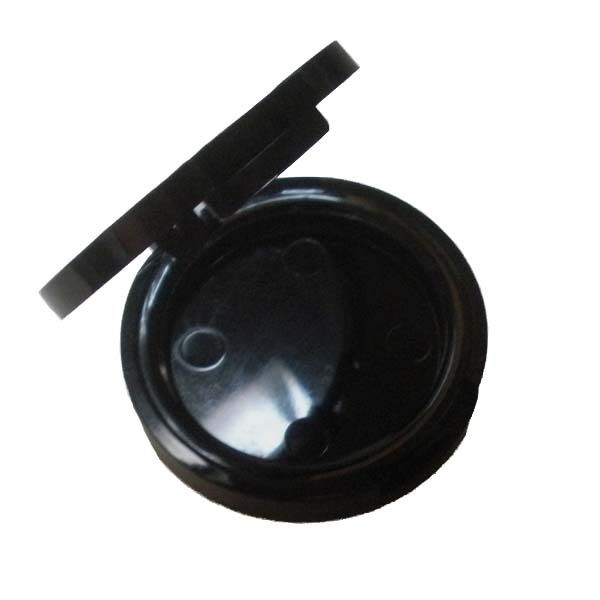 Round Shiny Black Blush Compact 37mm (Indent)