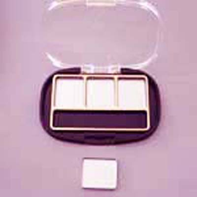 Rectangular 3 Well Black & Gold Palette & Applicator