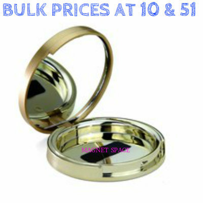 Round Matt & Shiny Gold Foundation Compact 59mm