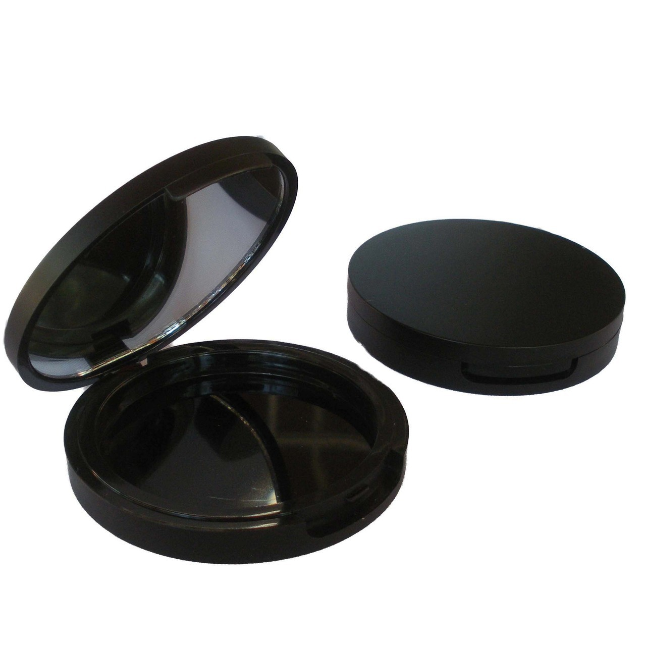 Round Matt Black Foundation Compact 59mm