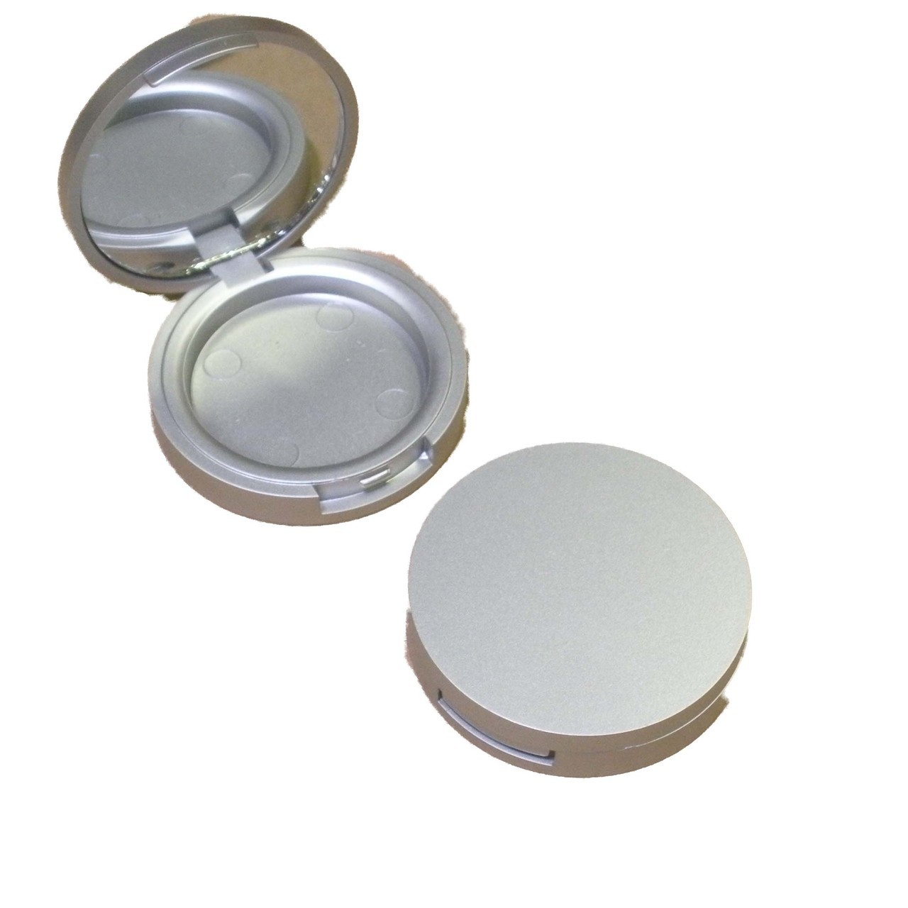 Round Matt Silver Foundation Compact 59mm