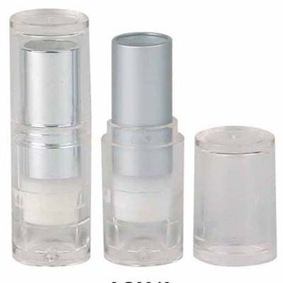 12.7mm Clear & Matt Bright Gold Lipstick Tube