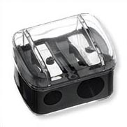 Black Dual Covered Pencil Sharpener