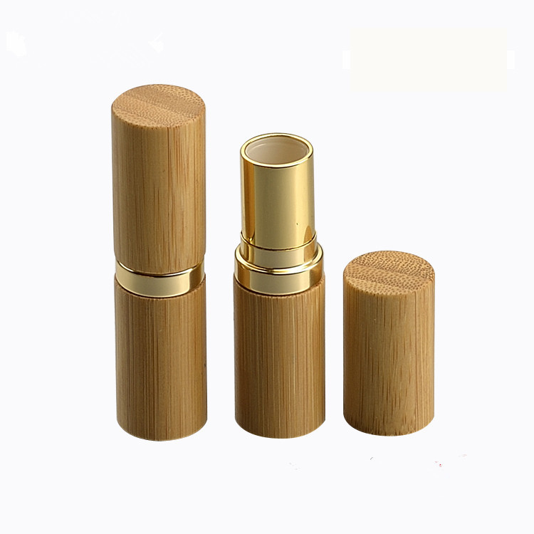 12.1mm Bamboo with Gold Collar Lipstick Tube