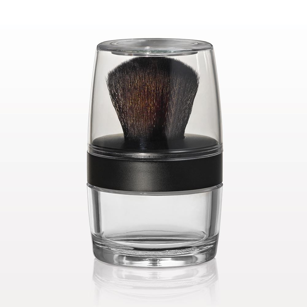 Kabuki Brush Jar, Sifter & Mirrored Cap, 20gm