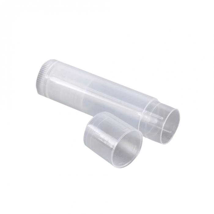Lipbalm Tube, Natural, Flat Top