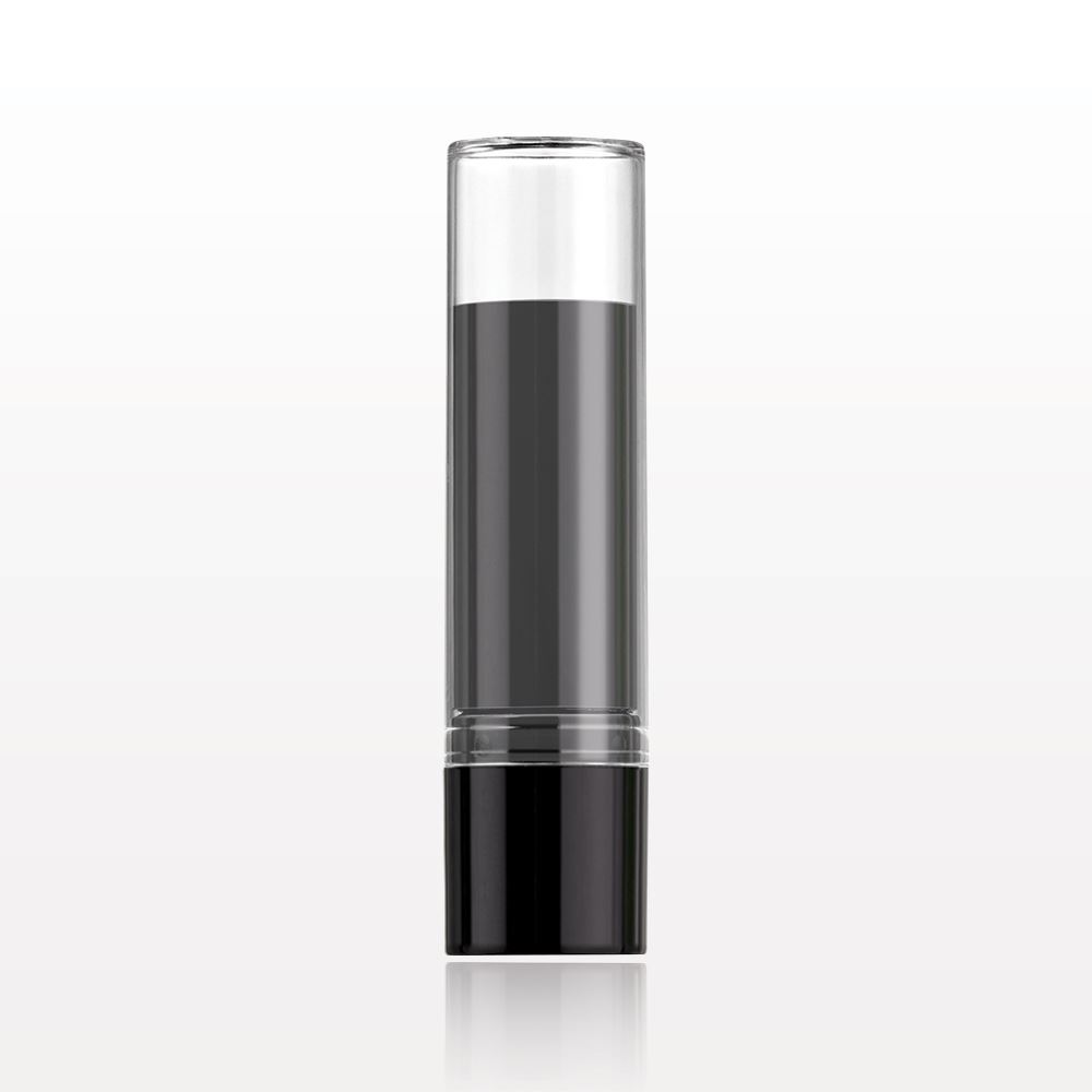12.1mm Shiny Black with Clear Cap Lipstick Tube